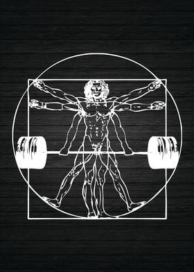 Vitruvian Barbell Man