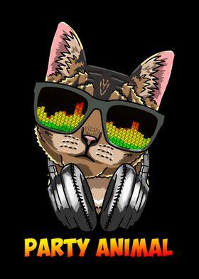 DJ Cat Party Animal