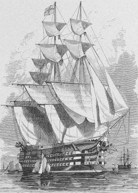 Sailing Ship Leaving Port