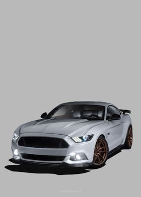 Ford Mustang GT grey