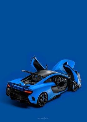McLaren 675LT blue