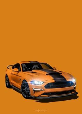 Ford Mustang GT Orange