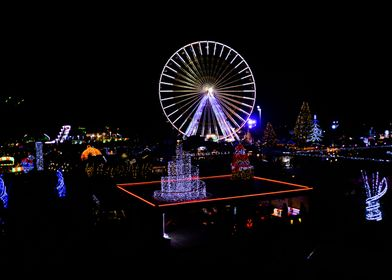 big Wheel Christmas lights