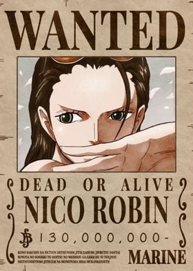 Robin Bounty Wanted Poster