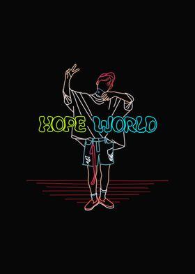 BTS JHOPE WORLD LINE ART