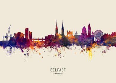 Belfast Ireland Skyline