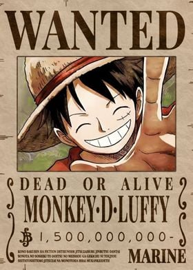 Luffy Bounty Wanted Poster