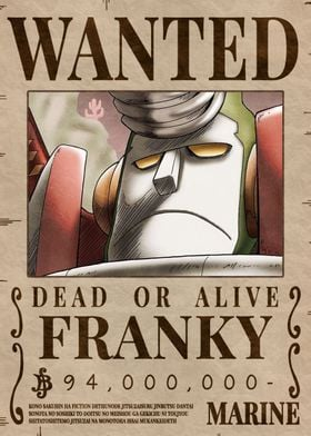 Frank Bounty Wanted Poster