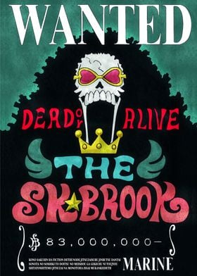 Brook Bounty Wanted Poster