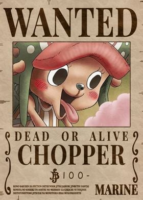 Tony Chopper Wanted Poster