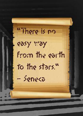Seneca Quote Scroll