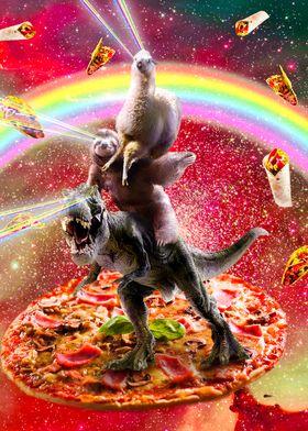 Space Llama Sloth Dinosaur