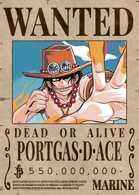 Ace Bounty Wanted Poster
