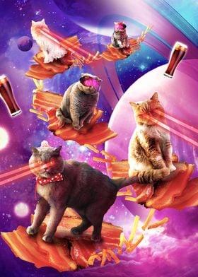 Bacon Galaxy Laser Cat