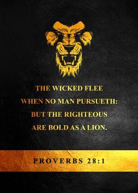 Proverbs 28 1