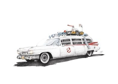 Ecto 1 Ghostbusters inDots