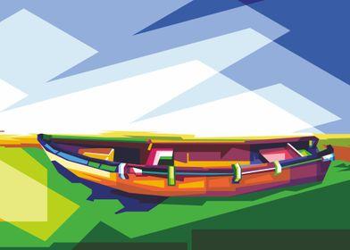 boat illustration design