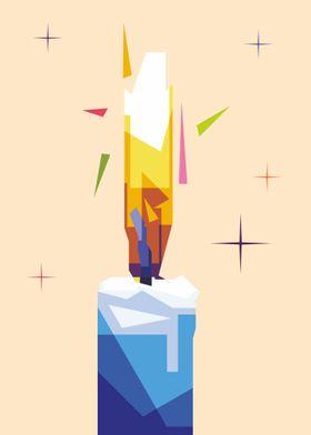 candle illustration design
