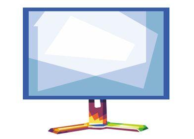 Blank computer pop art