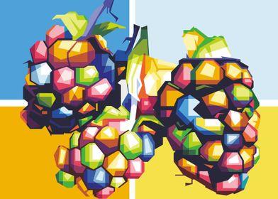 Design illustration grapes