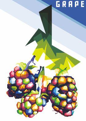 Grape colorful WPAP