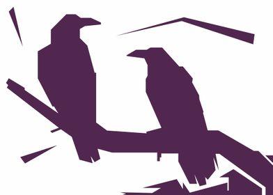 crow pop art style