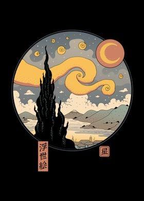 Starry Ukiyo e Night