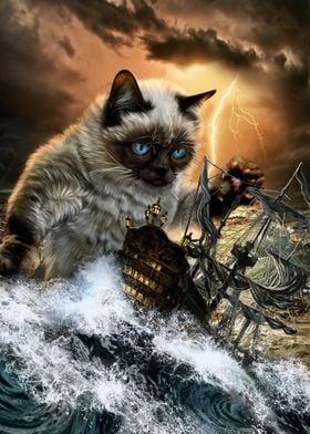 Monster Titan Cat Kraken