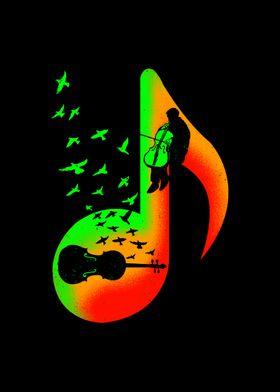 Music Cello Player