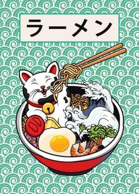 Cat Kitty Ramen Food