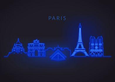 Neon Skyline Paris