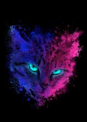 Space Neon Cat