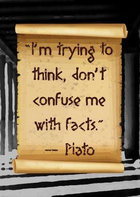Dont confuse Plato