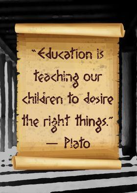 Education Plato