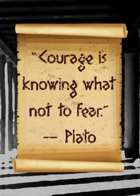 Courage is plato