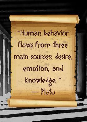 Plato Human behavior