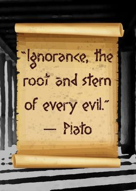 Plato root of every evil