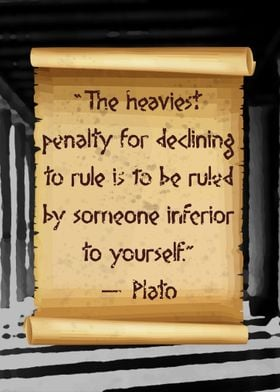 Plato ruled by inferiority