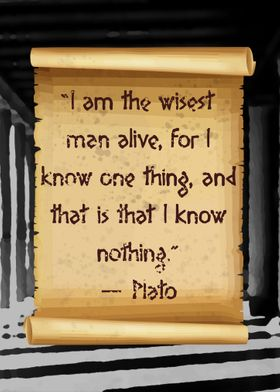 Plato knows nothing