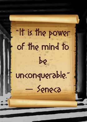 Seneca unconquerable