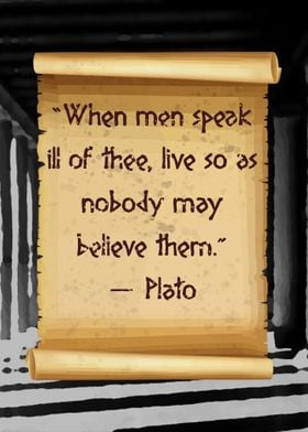Plato speak ill of thee