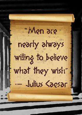 Caesar Men are always