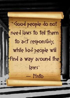 Plato about laws