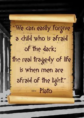 Plato afraid of the light