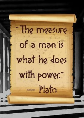 Plato with power