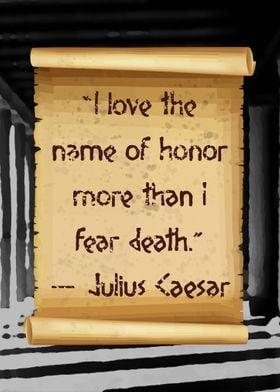 Caesar love honor more