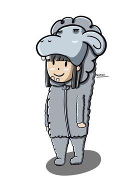 Sheep Cute Costume