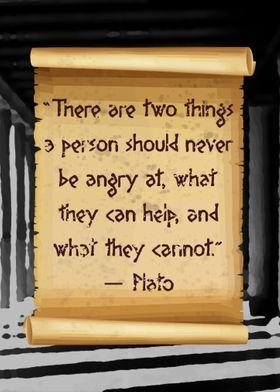 Plato no anger