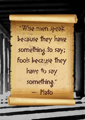 Plato Wise men