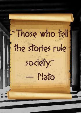 Plato those who tell